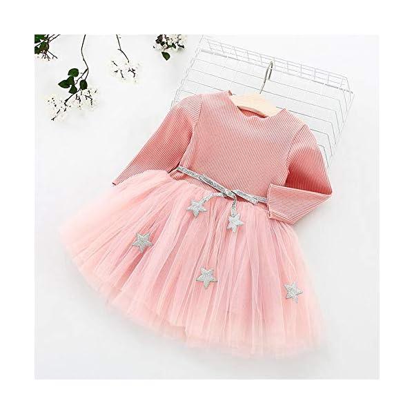 Tutu in maglia a maniche lunghe per neonato Abito in tulle con principessa infantile e gonna in misto cotone per bambini… 7