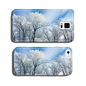 trees covered with white frost cell phone cover case Samsung S6