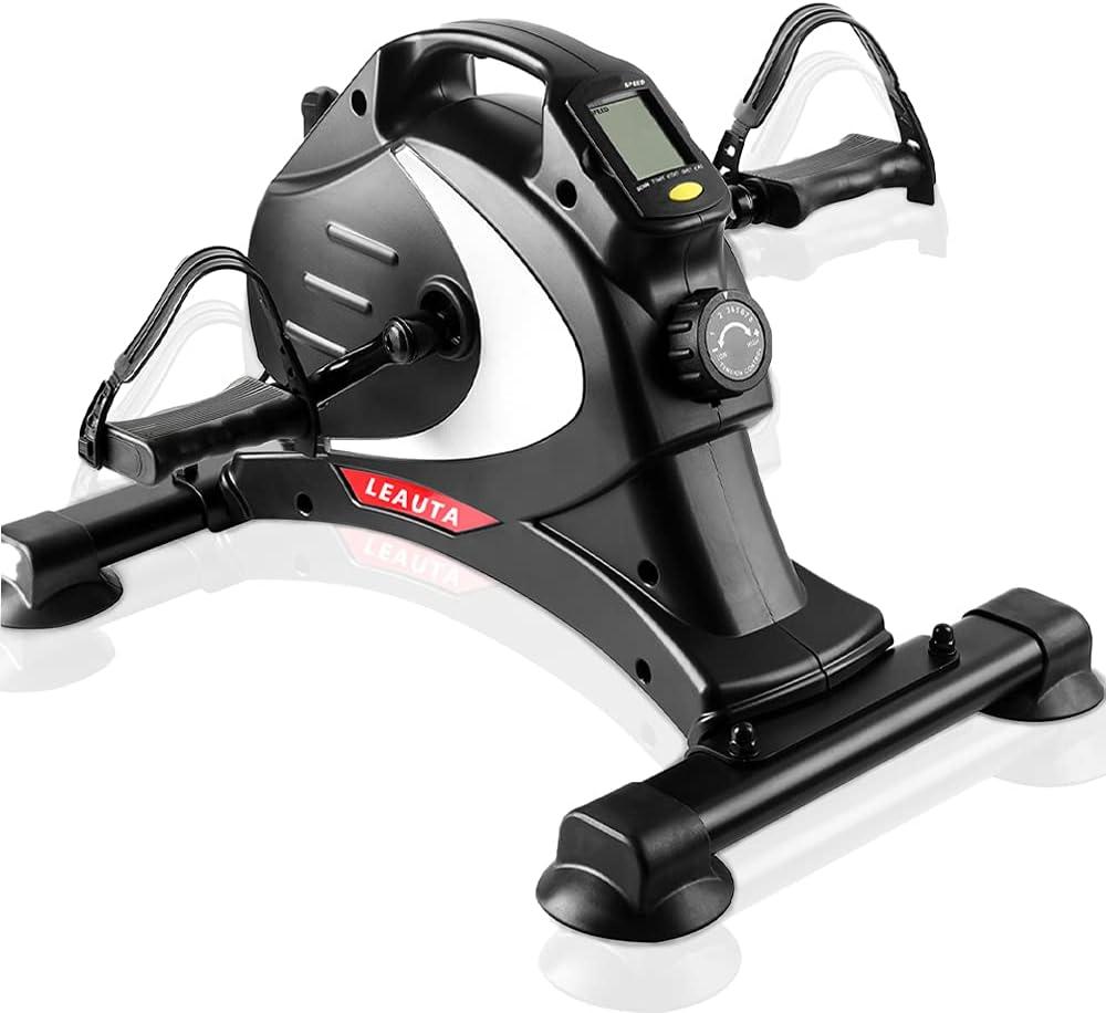Leauta Health & Fitness Under Desk Bike Pedal Exerciser,Mini Exercise Pedaler Stationary Cycle for Home & Office