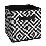 White Diamond Fabric Storage Bins - Set of 4