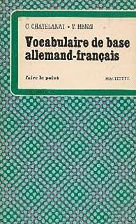 Vocabulaire de base allemand-français par  Chatelanat