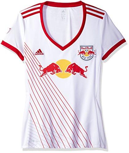 (MLS New York Red Bulls Adult Women Replica S/Wordmark Jersey,Medium,White)