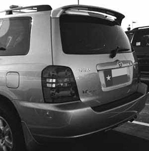 DAR Spoilers ABS-537p 2001-2007 Toyota Highlander Factory Roof No Light Spoiler44; Painted (Abs Roof Spoiler)