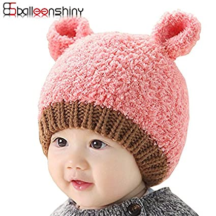 Buy Generic Pink   Winter Baby Caps Thicken Cute Ear Hats Costume Beanie  Crochet Knitting Photography Prop Hat Infant Girls Boys Warm Infantil Online  at Low ... fa7ff50a5be