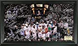 NBA San Antonio Spurs 2014 Finals Champions ''Celebration'' Signature Court, Black, 22'' x 15'' x 4''