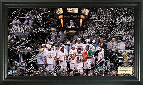 NBA San Antonio Spurs 2014 Finals Champions ''Celebration'' Signature Court, Black, 22'' x 15'' x 4'' by The Highland Mint