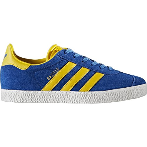 Price comparison product image adidas Originals Gazelle J Blue/Equipment Yellow Suede 5.5 M US Big Kid