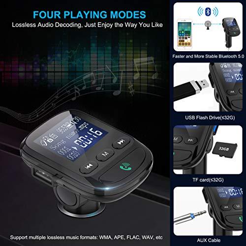 new bluetooth 5 0 fm transmitter hzrfun wireless radio. Black Bedroom Furniture Sets. Home Design Ideas