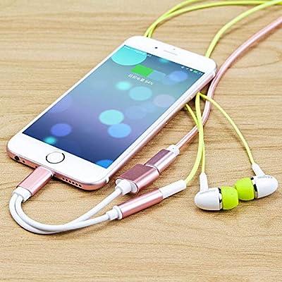 Kanggest.Adaptador Auriculares para iPhone 7 Phone Adaptador de ...