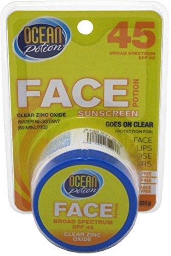 Ocean Potion Suncare Face Potion Clear Zinc Oxide, SPF 50 1 oz (Pack of - Ocean Potion Suncare