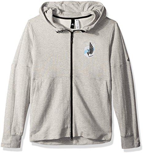 MLS Minnesota United Ultimate Worn French Terry Full Zip Jacket, Large, Medium Grey (Full Zip Terry Shirt)