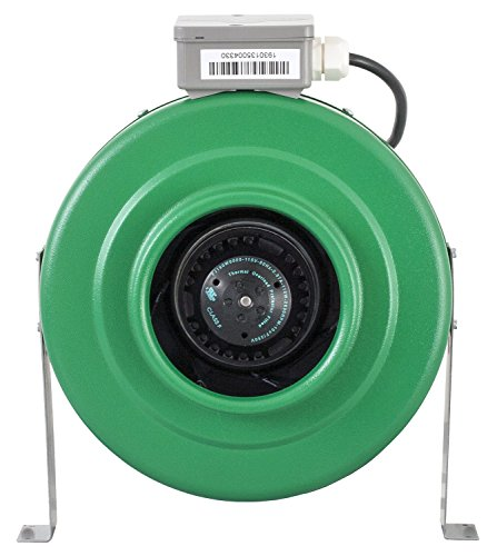 Hydrofarm ACDF6 Active Air 400 CFM Inline Fan, 6-Inch, 6""