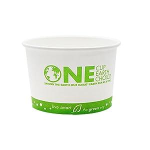 Karat Earth KE-KDP8 8 oz Hot/Cold Paper Food Container,