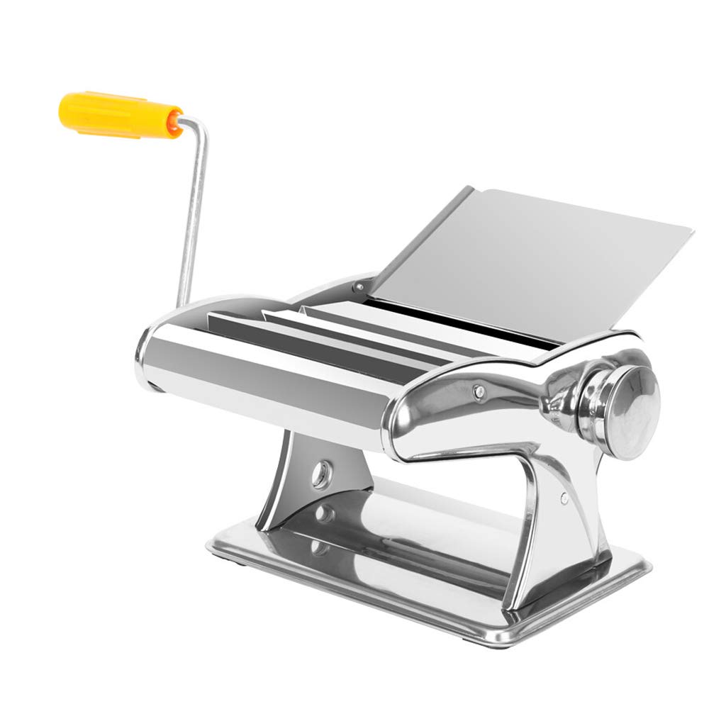 Pasta Maker Machine, Adjustable Stainless Steel Manual Pasta Making Machine with 3 Noodle Knife, Crank Handle and Clamp for Making Lasagne, Fettuccine by XCLYMJ