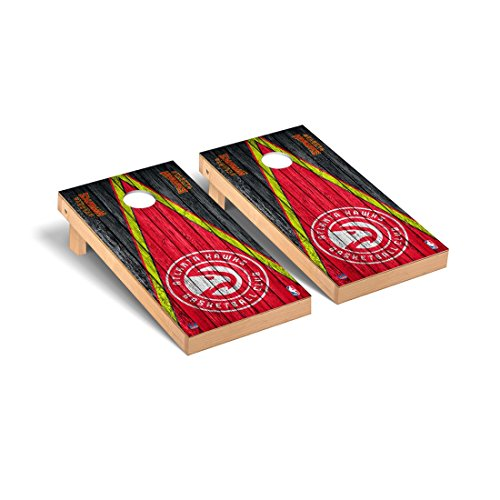 Victory Tailgate Atlanta Hawks NBA Basketball Desktop Cornhole Game Set Triangle Weathered Version by Victory Tailgate