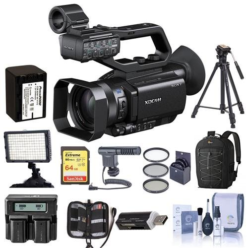 Sony PXW-X70 XDCAM Hand-Held Camcorder, 1ft Exmor R CMOS Sensor - Bundle With 62mm Filter Kit,Spare Battery, 64GB SDHC U3 Card, Shoulder Bag, Video Light, Shotgun Mic, Tripod, Cleaning Kit, And More