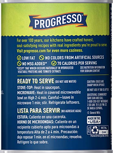 Progresso Low Fat Vegetable Classics Hearty Penne in Chicken Broth Soup 19 oz Can