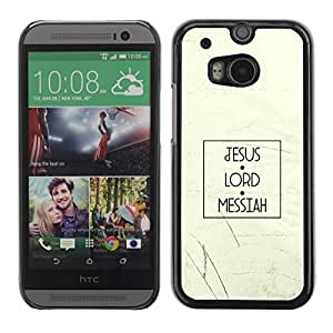 Be Good Phone Accessory // Dura Cáscara cubierta Protectora Caso Carcasa Funda de Protección para HTC One M8 // BIBLE Jesus Lord Messiah