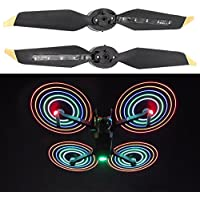 Rucan 4PC SLow Noise Quick Release Folding LED Light Flash Propellers for DJI Mavic