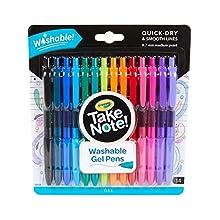 Crayola Take Note Medium Point Washable Gel Pens Set, Age 6+ - 14 Count