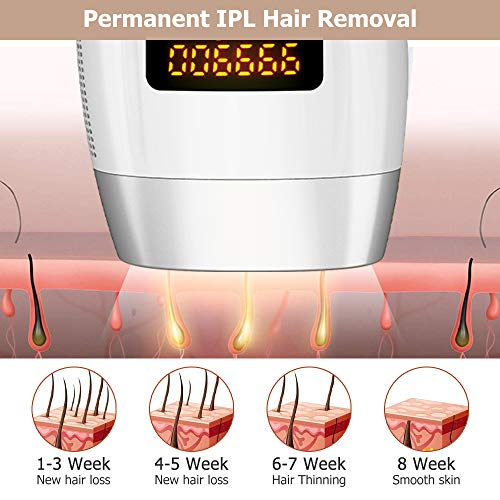 WELTEAYO Hair Removal For Women Man Permanent Painless Hair Remover UPGRADE to 999,999 Flashes Facial Body Profesional Hair Treatment Silver