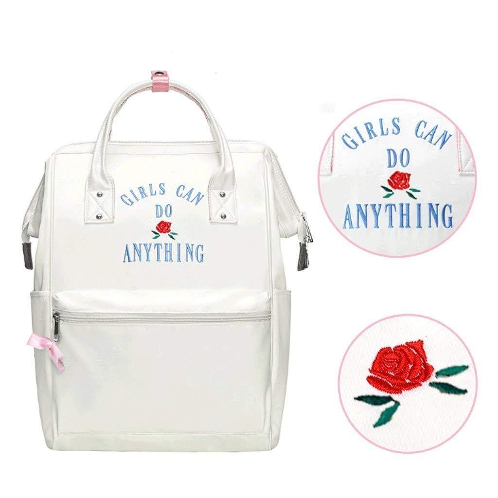 DollylaStore Rucksack - Süße Student Tasche weibliche Umhängetasche mit hoher Kapazität Casual Reisen Rucksack (Farbe  Weiß) ( Farbe   Weiß )