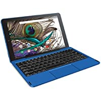 RCA Viking Pro 10' 2-in-1 Tablet 32GB Quad Core Blue Laptop Computer with Touchscreen and Detachable Keyboard Google Android 6.0