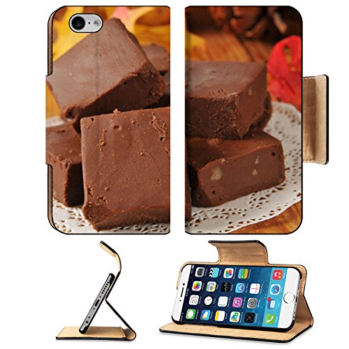 MSD Premium Apple iPhone 6 iPhone 6S Flip Pu Leather Wallet Case Nut fudge squares on a wooden table with holiday decorations IMAGE 22801977