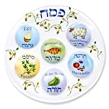 Passover Seder Plate Deluxe Quality Plastic 10'' Disposable Plates (Pack of 10)