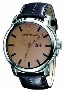 Emporio Armani Classic Collection AR0429 - Reloj analógico de cuarzo para hombre, correa de cuero