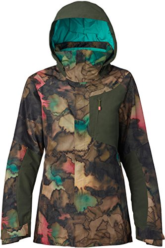 Burton Women's AK 2L Gore-Tex Embark Jacket, Tea Camo/Forest Night, Small Down Snowboarding Jackets
