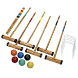 Verus Sports Expert 6-Player Croquet Set Mallet and Carrying Case, 28-Inch