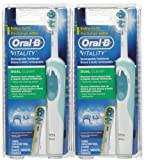 Oral B Vitality Dual Clean Rechargeable Power Toothbrush - 2 Pack