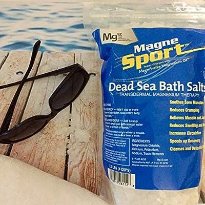 MagneSport 100% Dead Sea Bath Salts, 5. 5 lb bag