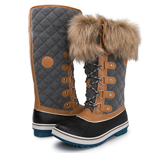 Kingshow Women's Globalwin 1707wheat/Grey Waterproof Winter Boots - 8 D(M) US Women's by KINGSHOW