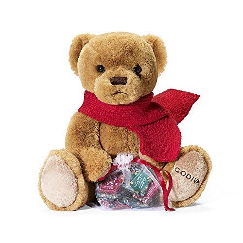 Godiva Chocolatier Holiday 2018 Limited Edition Plush Bear with Chocolate, Stocking Stuffer Gift