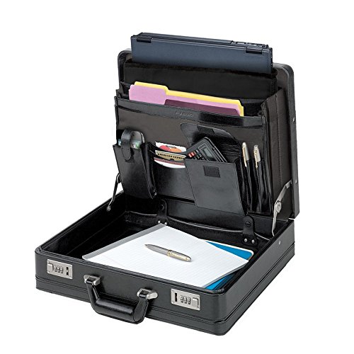 Solo 15.4 Laptop Briefcase Hardsided Case in Black