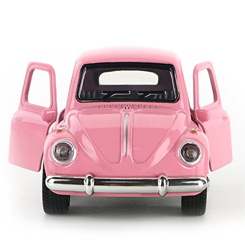 Toy Diecast Car Play Vehicles, Pull Back Action with Lights and Sounds 1:38 - iPlay, iLearn (Pink) (Cute Construction Worker Costumes)