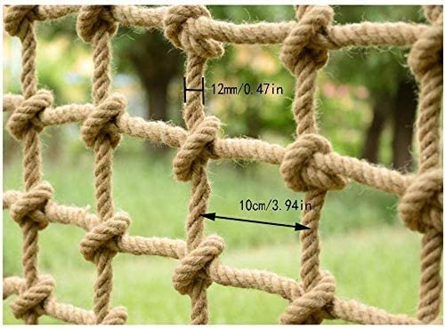 Size : 10x1m Natural Hemp Decoration Net Sturdy Net Safety Net Climbing Net Rope Hemp Rope Net Stair Protection Net Balcony Anti-Fall Net Child Safe Net Retro Bar Ceiling Net Hang Clothes Net