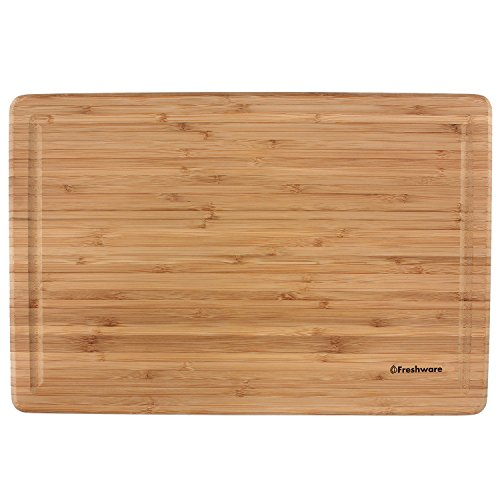 freshware extra large bamboo chopping board new ebay. Black Bedroom Furniture Sets. Home Design Ideas