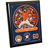 "MLB Houston Astros Dallas Keuchel Plaque with Game Used Dirt from Minute Maid Park, 8"" x 10"", Navy"