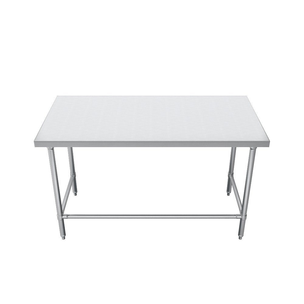 Elkay Foodservice Chef's Choice Work Table, 24''X84'' OA, 36'' Working Height, Flat Top, Galvanized Cross Brace, Turned Down Table Edge, Galvanized Legs With Adjustable 1'' Feet, 16 Gauge 300 Series Stainless Steel, NSF Certified by Elkay Foodservice (Image #2)