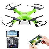 Review of Holy Stone HS110 FPV RC Drone with Camera 720P HD Live Video WiFi 2.4GHz 4CH 6-Axis Gyro RC Quadcopter with Altitude Hold, One Key Return and Headless Mode Function RTF, Color Green