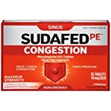 Sudafed PE Congestion and Sinus Relief, Maximum Strength, 36 Count (Pack of 5) tMi*W