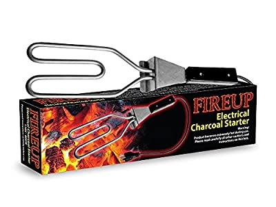 Electric Charcoal Starter & Bonus Extension Cord By FIREUP: Eco-friendly, reusable BBQ Starter, Campfire, Fireplace&More, Safe Fire Igniter-Essential Outdoor Cooking Equipment 800 Watt
