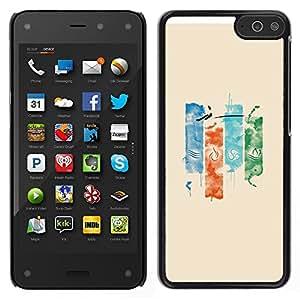 Caucho caso de Shell duro de la cubierta de accesorios de protección BY RAYDREAMMM - Amazon Fire Phone - Elementos