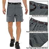 Jessie Kidden Men's Stretch Hiking Shorts Outdoor