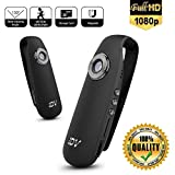Leegoal Portable Mini DV Camera, 1080P HD Digital Video Voice Recorder Pen Car DVR Security Camera with Motion Detection Loop Record for Meeting, Car, Office, Home, Outdoor Sport