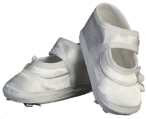 Mary Jane Baby Girl Bootie Ideal for Christening Baptism Blessing or any Special Occasion - Size 00 (Girls White Booties)