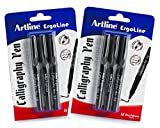 Artline Ergoline Calligraphy Pen, Blue & Black combo